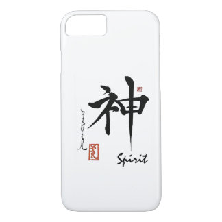 Caligrafía china japonesa del ALCOHOL del símbolo Funda iPhone 7