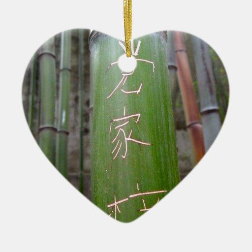 Caligrafía de bambú ornamentos para reyes magos