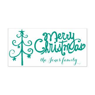 Caligrafía de las Felices Navidad Sello Automático