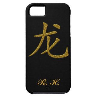 Caligrafía del chino del símbolo del dragón iPhone 5 Case-Mate cobertura