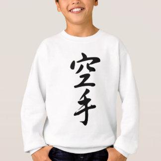 Caligrafía del karate japonés de la palabra sudadera
