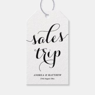 Caligrafía moderna linda del viaje de las ventas etiquetas para regalos