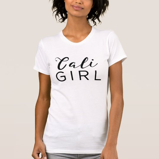 Caligrafía negra de moda de la escritura del CHICA Camiseta
