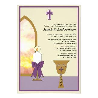 Cáliz de oro - invitación religiosa