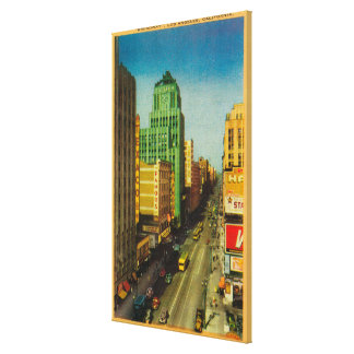 Calle de Broadway en Los Ángeles, CA Impresiones De Lienzo