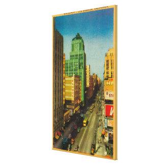 Calle de Broadway en Los Ángeles, CA Impresión En Lona Estirada