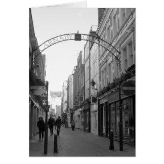 Calle de Carnaby, Londres, Inglaterra Tarjeta De Felicitación