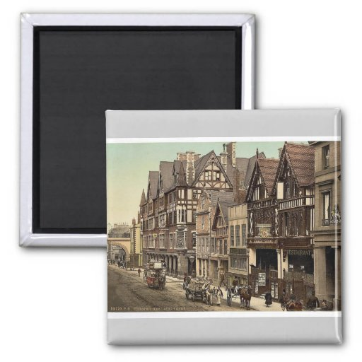 Calle de Eastgate y calle de Newgate, Chester, Eng Imanes De Nevera