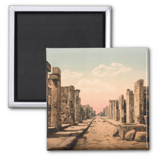 Calle de Fortuna, Pompeya, Campania, Italia Imán Para Frigorífico