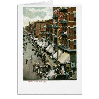 Calle de Hester, New York City Tarjeta De Felicitación