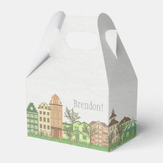 Calle de la ciudad - caja personalizada del favor