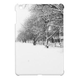 Calle de la conferencia en el pleno invierno