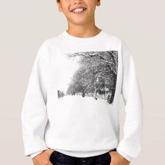 Calle de la conferencia en el pleno invierno camiseta