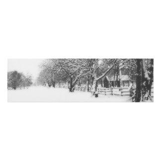 Calle de la conferencia en el pleno invierno cuadro