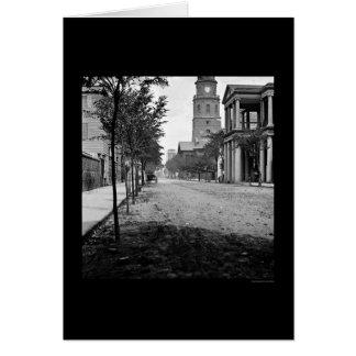 Calle de la reunión en Charleston, SC 1865 Felicitaciones