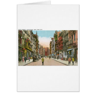 Calle de Mott, CHINATOWN, New York City (vintage) Tarjeta De Felicitación