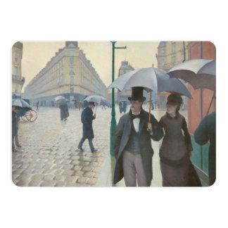 Calle de París; Día lluvioso AKA París: Un día Invitación 12,7 X 17,8 Cm