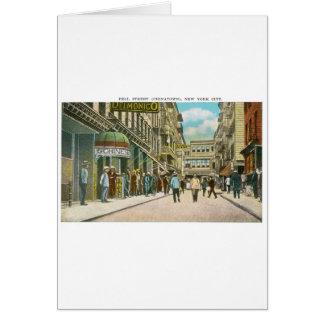 Calle de Pell (CHINATOWN), New York City (vintage) Tarjeta De Felicitación