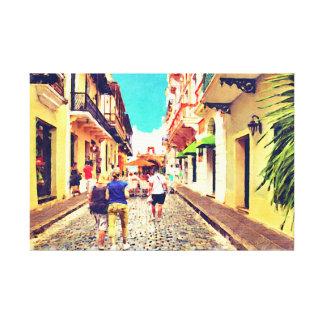 Calle Del Cristo Street San Juan Puerto Rico Impresiones En Lienzo Estiradas