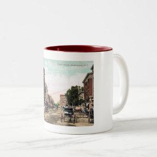 Calle del sur, Morristown NJ, vintage Taza Bicolor