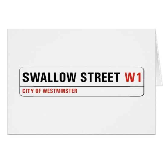 Calle del trago, placa de calle de Londres Tarjeta De Felicitación
