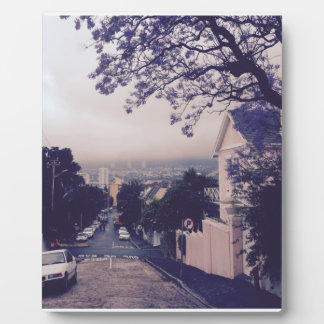 Calle en Cape Town Placa Expositora