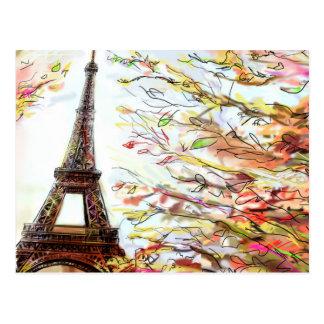 Calle en París - ejemplo 2 Postal