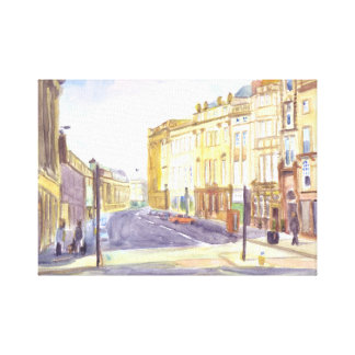 Calle gris, impresión de la lona de Newcastle