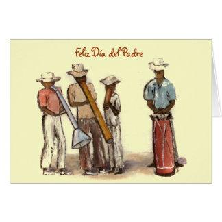 Calle haitiana Musicians Dia del Padre Tarjeta De Felicitación