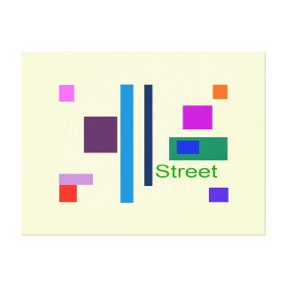 Calle Lienzo Envuelto Para Galerías