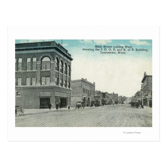 Calle principal que mira WestLewiston, TA Postal
