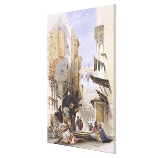Calle que lleva al EL Azhar, El Cairo magnífico, p Impresión En Lienzo