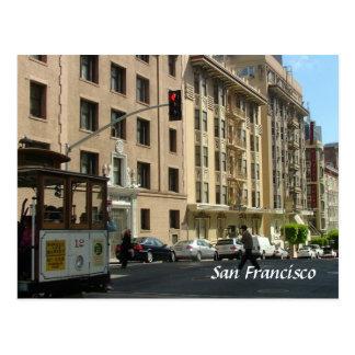 Calle y tranvía tarjeta postal