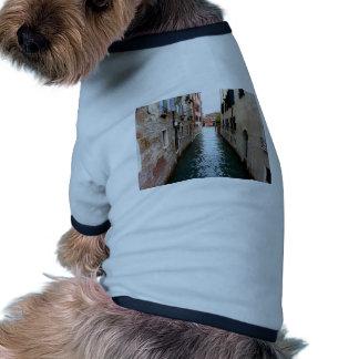 Callejón del agua de Venecia Camiseta Con Mangas Para Perro