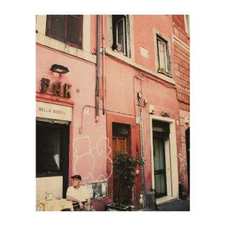 Calles de Roma Impresión En Madera
