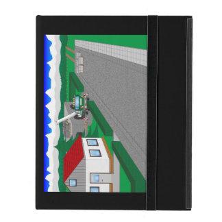 Calles y construcción de casa iPad carcasa