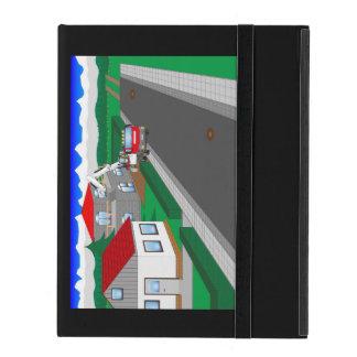 Calles y construcción de casa iPad cobertura