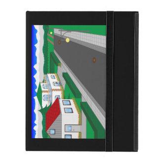 Calles y construcción de casa iPad fundas
