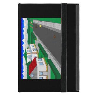 Calles y construcción de casa iPad mini carcasas