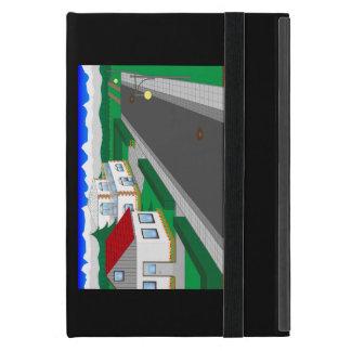 Calles y construcción de casa iPad mini funda