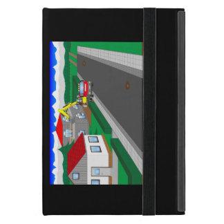 Calles y construcción de casa iPad mini protectores