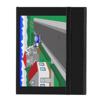 Calles y construcción de casa iPad protector