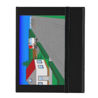 Calles y construcción de casa iPad protectores