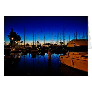 Calma en la puesta del sol tarjeta de felicitación