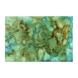 Calmar la pintura abstracta azul y verde de la impresión acrílica