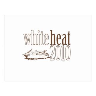 Calor blanco tarjeta postal