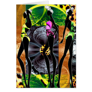 Calor de la selva tarjeta de felicitación