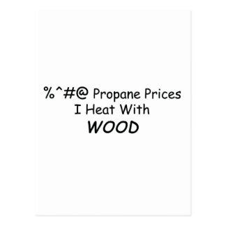Calor de los precios I del propano de %^&@ con el  Tarjeta Postal