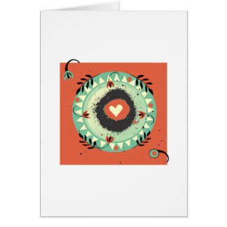 Calor de un corazón tarjeta pequeña