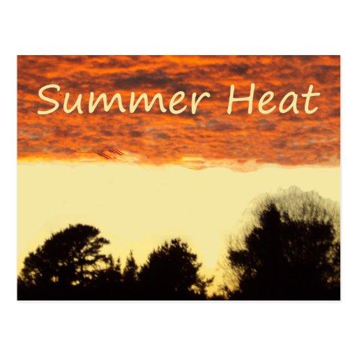 Calor del verano tarjetas postales